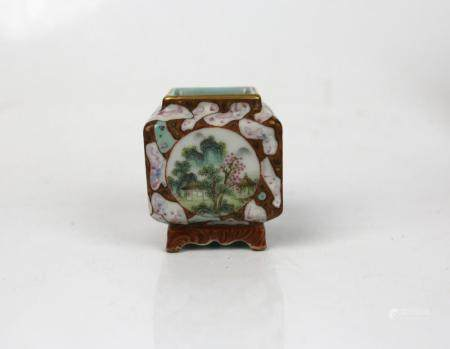 A Chinese Faux Bios Glazed Water Pot