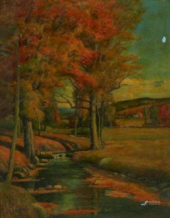 Joseph Henry Sharp Landscape Oil on Canvas