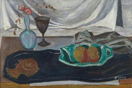 Sir William Gillies Still Life Oil on Canvas Painting