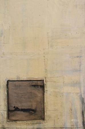 Lawrence Carroll Oil Wax Canvas on Wood
