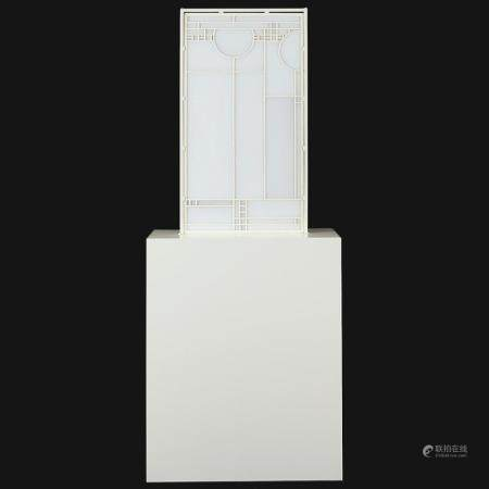 "Josiah McElheny ""Frank Lloyd Wright"" Glass Sculpture"
