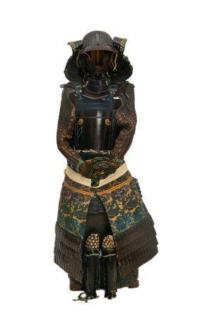 ELEMENTS D'ARMURE JAPONAISE Japon, XIXe et XXe siècle  Lot comprenant:  - Casque / KABUTO, la b