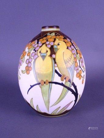 Céramique: Vase en faience fine KERAMIS Belgique monogrammé W *WIND J.* (Jan) (act [...]