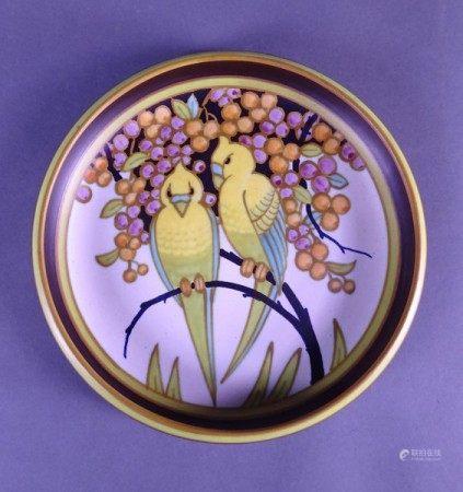 Céramique: Coupe en faience fine KERAMIS Belgique monogrammé W *WIND J.* (Jan) (act [...]