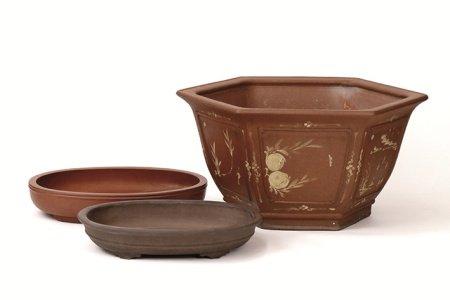 花木鉢3件組
