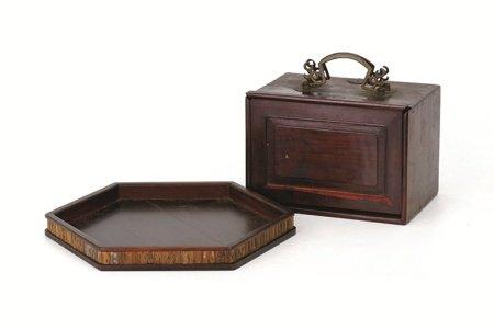 紅木小箪笥 · 六角盆2點