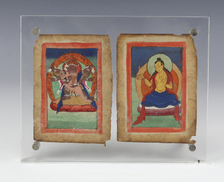 A pair of Tibetan Tanka 18 Centry