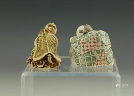 Two Carved Netsuke Figures
