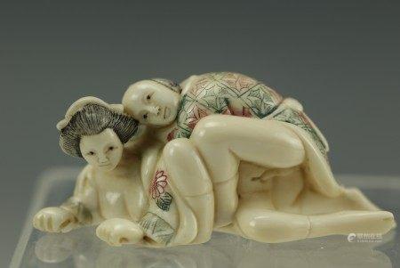 An Erotic Carved Netsuke 5