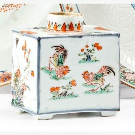 Kleine rechteckige Teedose China, Qing