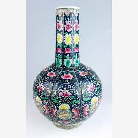 Große Flaschenvase China, Jiaqing