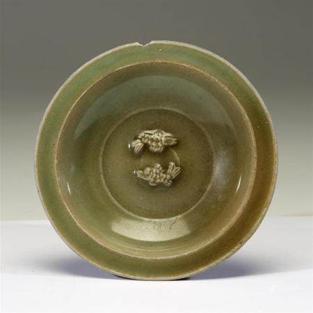"A Chinese Longquan celadon ""Twin Fish"" small dish, Southern"