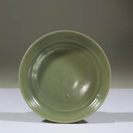 A Chinese Longquan celadon dish, early Ming dynasty
