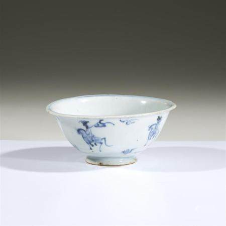 A Chinese blue and white porcelain bowl, Ming dynasty