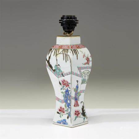 A Chinese famille rose-decorated baluster vase, Yongzheng/Qi