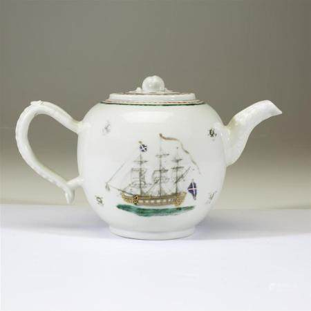 A Chinese export porcelain teapot, possibly for the British