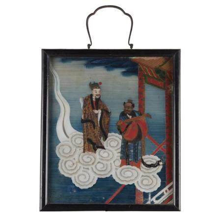 "A Chinese export églomisé painting, ""The Magistrate"","