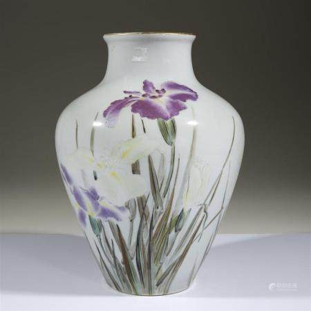 "A Japanese porcelain ""Iris"" vase for the 1904 St. Louis Worl"