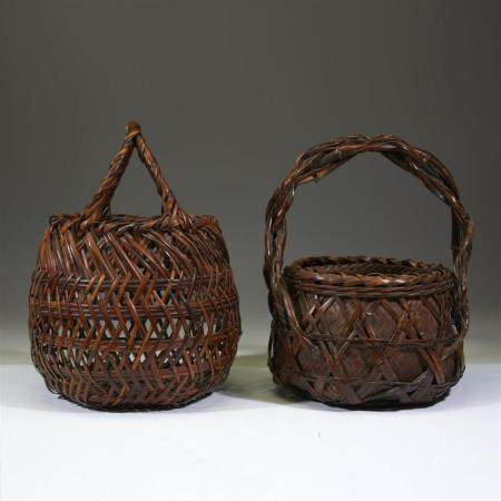 Two Japanese ikebana baskets,