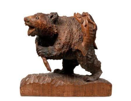 A carved wood Hokkaido Bear, Japanese, 1961