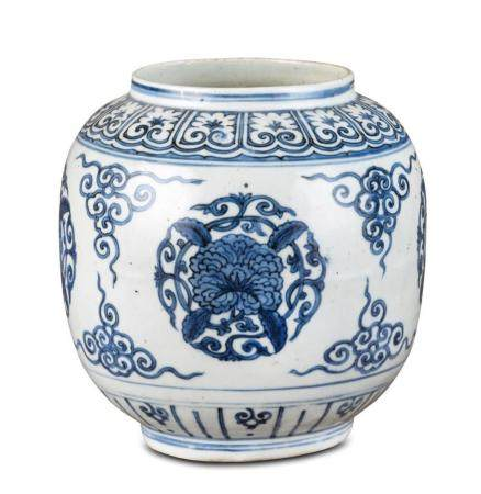 A blue and white jar late Ming dynasty