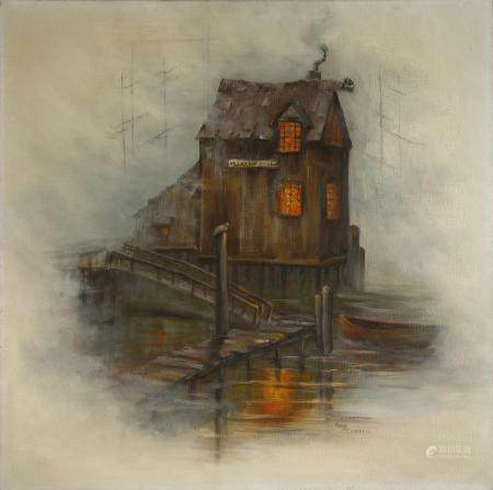 Oil on Canvas of House
