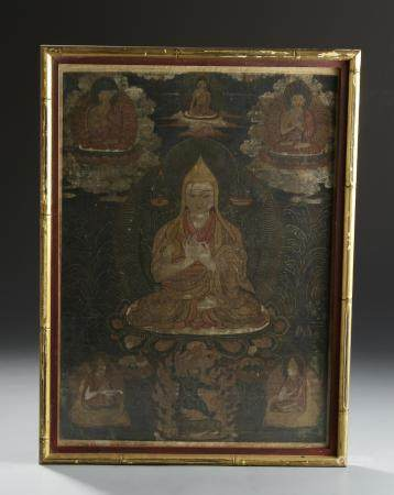 Two Chinese Framed Thangkas