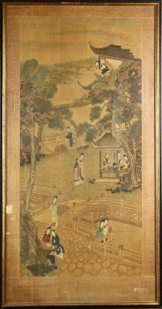 Chinese Framed Painting of Landscape