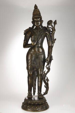 Ancient Alloy Bronze Buddha Statue