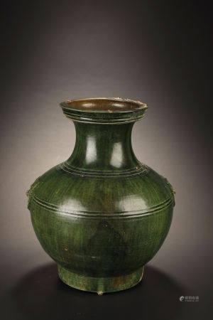 Han Dynasty, Green-Glazed Vase