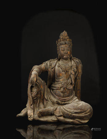 Song Dynasty,  Lacquered Wood Kuan Yin Statue