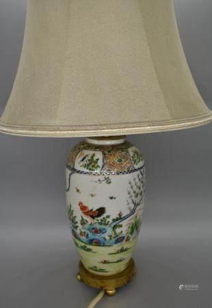 Chinese decorative cockerel lamp