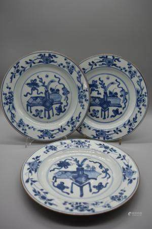 Blue and White Dinner Plate three