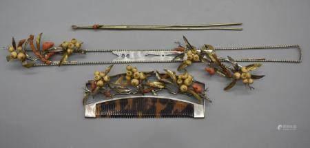 Japanese Set of 3 wedding hair ornament