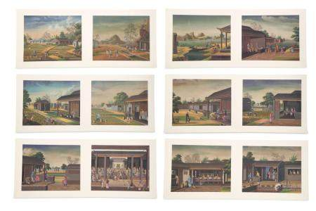Chinese Paintings of Tea Plantations