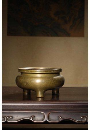铜鬲式炉 LI STYLE BRONZE CENSOR WITH DA MING XUAN DE NIAN ZHI MARK