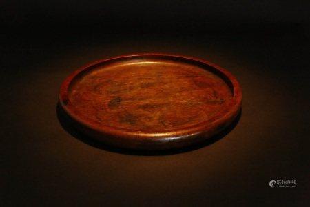 整木做红木托盘 ROSE WOOD PLATE
