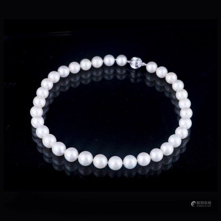 A SOUTH SEA PEARL NECKLACE, AIGL CERTIFIED