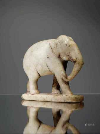 ELEPHANTMarble,India 18th centuryDimensions: Height 13 cm , Wide 13 cm , Depth 5 cmWeight: 874