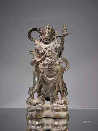 CHINESE GUARDBronze,China, 19th centuryDimensions: Height 29 cmWeight: 2054 gramsProbably