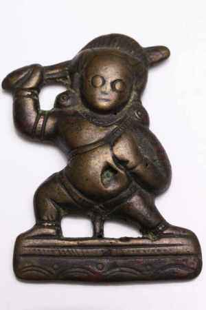 THOCKCHA IN FORM OF ACALABronzeTibet , 12th centuryDimensions: Height 4,5 cmWeight: 20 grams