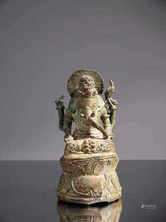 GANESHABronze,Indonesia , 14th century or laterDimensions: Height 11 cmWeight: 304 gramsGanesha