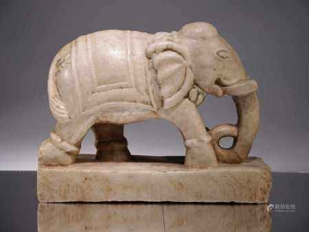 ELEPHANTMarble,India 18th centuryDimensions: Height 24 cm , Wide 31 cm , Depth 11 cmWeight: 10890