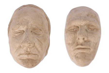 A PAIR OF PLASTER DEATH MASKS OF BURKE AND HARE