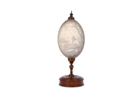 A 19TH CENTURY CARVED EMU EGG, c.1870