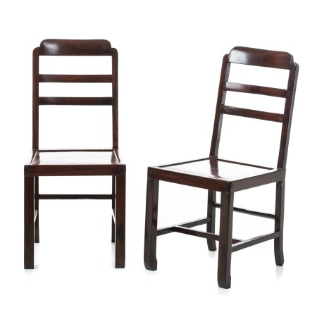 Pair of low chairs, Minguo