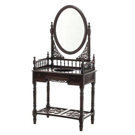 Chinese washbasin table with mirror