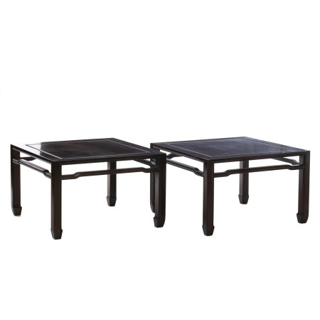 Pair of Chinese sofa front tables, Minguo