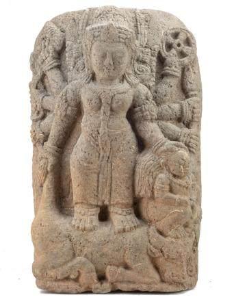 JAVA, 9-10ème SIECLE Durga tuant le buffle