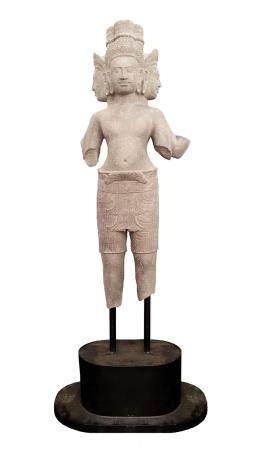 CAMBODGE, PROVINCE DE SIEMREAPS, 10-11ème SIECLE Statue Brah